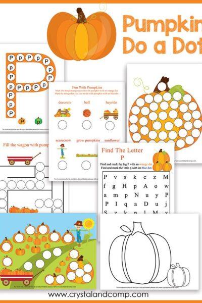Pumpkin do a dot printable